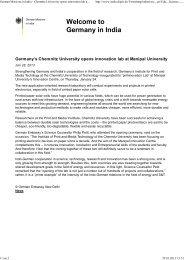Chemnitz University opens innovation lab at Manipal University