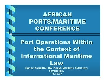 Port Operations in the Context of International Maritime Law - PMAESA
