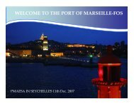 WELCOME TO THE PORT OF MARSEILLE-FOS - PMAESA