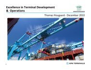 Excellence in Terminal Development & Operations - PMAESA