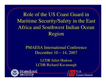 Role of the US Coast Guard in Maritime Security/Safety in ... - PMAESA