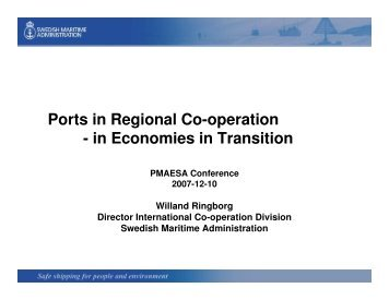 Ports in Regional Co-operation - in Economies in Transition - PMAESA