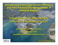 Infrastructure and Operational Efficiency and Port ... - PMAESA