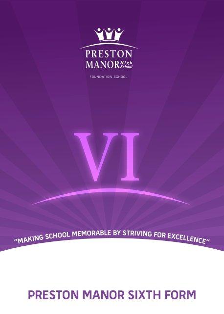 PRESTON MANOR SIXTH FORM - Preston Manor High School
