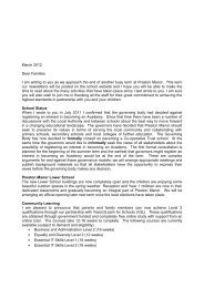 End of Term Letter (March 2012) - Preston Manor High School