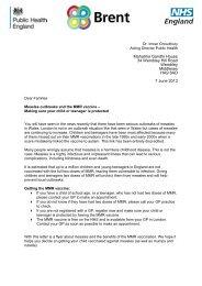 MMR Letter to Parents - Preston Manor High School