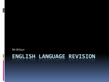 Year 11 English Language Revision