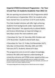 Imperial STEM Enrichment Programme - Preston Manor High School