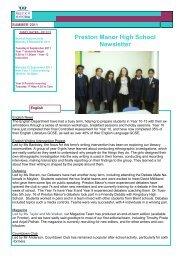 Preston Manor High School Newsletter