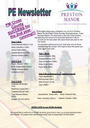PE Newsletter (March 2013) - Preston Manor High School