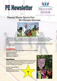 PE Newsletter (December 2012) - Preston Manor High School