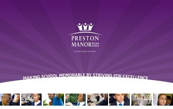 Making school MeMorable by striving for excellence - Preston Manor ...