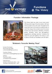 Function Information Package - ALH Group