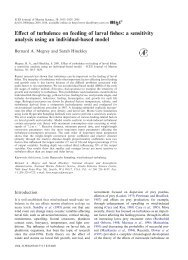 Effect of turbulence on feeding of larval fishes: a sensitivity analysis ...