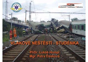 Vlakové neštěstí - Studénka - PhDr. Lukáš Humpl, Mgr. Petra Ďásková