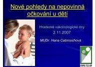 Nové pohledy na nepovinná očkování u dětí (MUDr. Hana ...