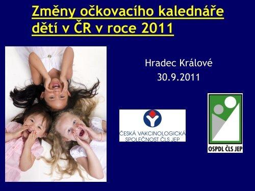 Změny očkovacího kalendáře dětí v ČR v roce 2011