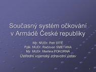 Současný systém očkování v Armádě České republiky - Fakulta ...