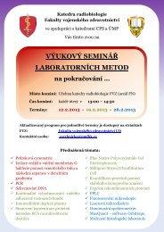 výukový seminář laboratorních metod - Fakulta vojenského ...