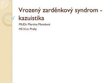 Vrozený zarděnkový syndrom - kazuistika