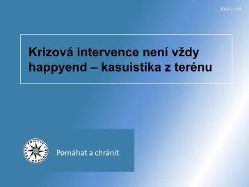 kpt. PhDr. Jan Pokorný – Krizová intervence není vždy happyend