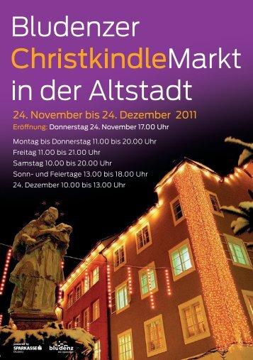 Programm Christkindlemarkt 2011