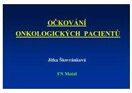 Očkování onkologických pacientů (MUDr. Jitka Škovránková)