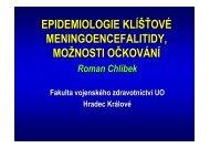 Epidemiologie klišťové meningoencefalitidy, možnosti očkování