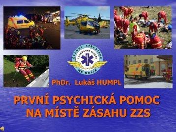 PhDr. Lukáš Humpl – První psychická pomoc na místě zásahu ZZS