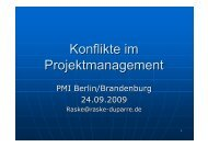 Konflikte im Projektmanagement - PMI Berlin/Brandenburg Chapter eV