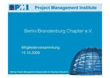 Mitgliederversammlung 15.10.2009 - PMI Berlin/Brandenburg ...