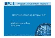 Berlin/Brandenburg Chapter e.V. - PMI Berlin/Brandenburg Chapter ...