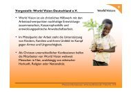 World Vision international - PMI Berlin/Brandenburg Chapter eV