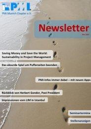 Mai 2013 - PMI Munich Chapter eV
