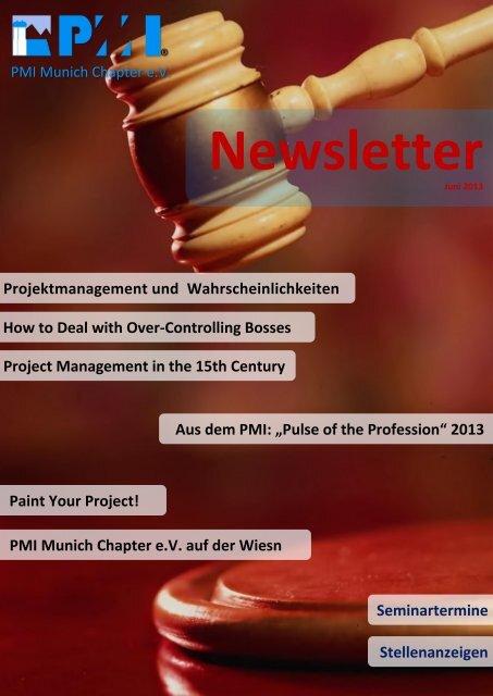 Juni 2013 - PMI Munich Chapter eV