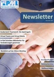 Oktober 2013 - PMI Munich Chapter eV