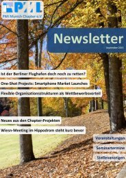 September 2013 - PMI Munich Chapter eV