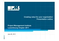 Presentation outline - PMI Luxembourg Chapter