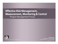Effective Risk Measurement, Monitoring, and Management ...