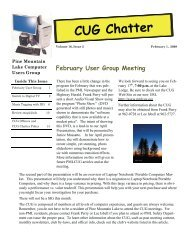 February 2009 Newsletter - PML Computer Users Group