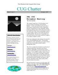 November 2007 Newsletter - PML Computer Users Group