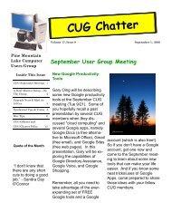 September 2010 Newsletter - PML Computer Users Group
