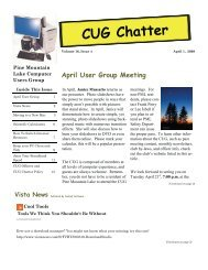 April 2009 Newsletter - PML Computer Users Group