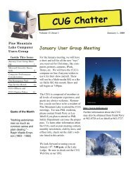 January 2010 Newsletter - PML Computer Users Group