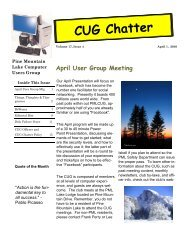 April 2010 Newsletter - PML Computer Users Group