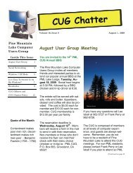 August 2009 Newsletter - PML Computer Users Group