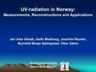Målt og modellert UV-stråling i Bergen