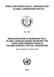 WMO/GAW Experts Workshop on a Global Surface-based Network ...