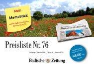 Preisliste Nr. 76 - Badische Zeitung