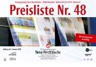 Anzeigenpreisliste Nr. 48 - Neue Westfälische